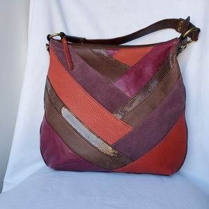 Fossil Patch-Work Large Tote Handbag